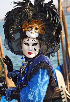 Colorful costumes and masks at the 2010 Carnevale in Venice (IMG_9112a) by Alaskan Dude, via Flickr