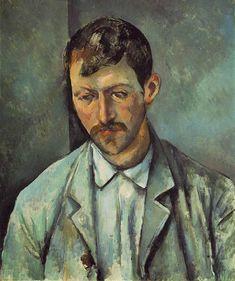 Peasant, 1891, Paul Cezanne Medium: oil on canvas