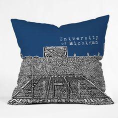 Bird Ave 'University Of Michigan Navy' Throw Pillow