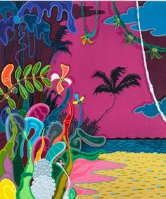 """Colombier Beach,"" 2012, acrylic on canvasCourtesy the Artist and Paul Kasmin Gallery[content:shareblock]"