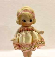 Antique Bisque Flapper Doll Blonde Hair and by VintagePrairieHome