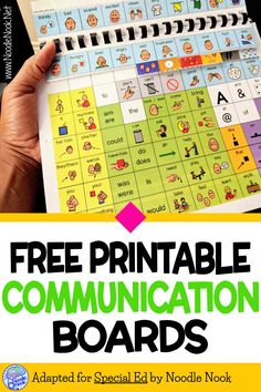Free Communication Boards Autism | NoodleNook.Net