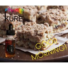Grab a coffee and your MOD... start your day with KŪRE's KRUMB KAKE flavor... It's amazing! #ejuice #flavor KureSociety.com