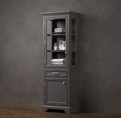 RH's Kent Medium Bath Cabinet:We've embraced the individualistic possibilities of classical style, offering our timeless collection with your choice of paint colors. Each is built with a single drawer and enclosed storage in the cabinet. Tall Cabinet Storage, Locker Storage, Lockers, Bathroom, Medium, Furniture, Vintage, Ideas, Home Decor