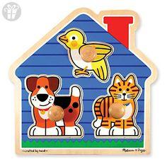 Melissa & Doug House Pets Jumbo Knob Puzzle - 3 Piece (*Amazon Partner-Link)