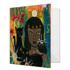 Goddess Bastet 3 Ring Binder Egyptian Goddess, Goddess Art, Egyptian Cats, Birthday Postcards, Winter Fairy, Fantasy Art, Original Paintings, Greeting Cards, Art Prints