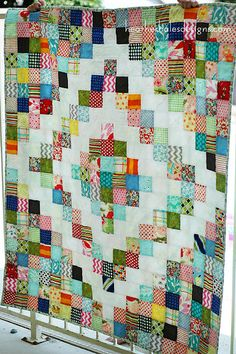 Another potluck quilt: http://heatherhalesdesigns.com/blog/i-made-a-quilt/