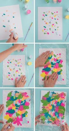food art for kids crafts Smushed Paint Art Project for Kids! - Oh Joy! Summer Art Projects, Projects For Kids, Diy For Kids, Craft Projects, Art For Toddlers, Art Activities For Preschoolers, Preschool Art Activities, Craft Ideas, Toddler Art Projects