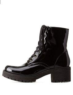 Lug Sole Chunky Heel Combat Boots