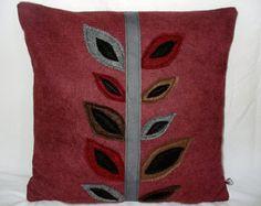 Cream Felt Pillow Decorative Pillow Toss door SheilaWeilStudios