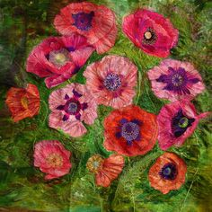 Large Poppies Embroidery   Flickr - Photo Sharing! ooh this is beautiful...