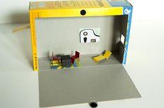 cheerios box dollhouse