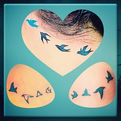 Tattoos with my sisters wives. Birds of a feather......