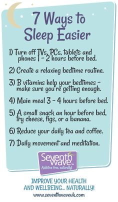 Here's some simple techniques that if you add to your daily routine will definitely help you get to sleep quicker. http://www.seventhwaveuk.com/content/106-7-ways-to-get-to-sleep-quicker