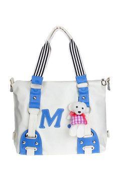 Cute Candy Diagonal Package Shoulder Bag White (EXPORT)