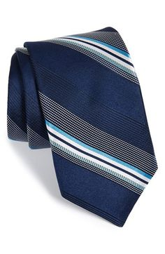 Men's Michael Kors 'Dudley' Stripe Silk Tie