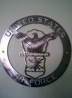 Hey, I found this really awesome Etsy listing at https://www.etsy.com/listing/127790697/united-states-air-force-metal-art-sign