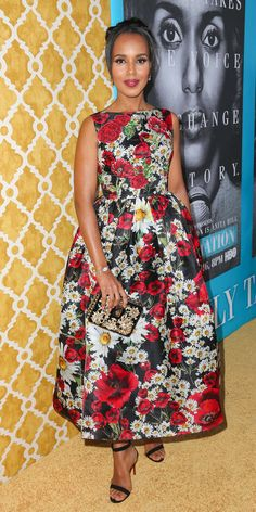 Why Kerry Washington is Obsessed With Floral Dresses - Dolce & Gabbana  - from InStyle.com