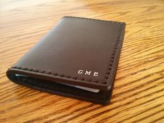 Passport Wallet Genuine Leather  Black with by HeirloomLeather, $105.00