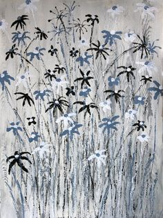 Midnight. A painting of flowers.