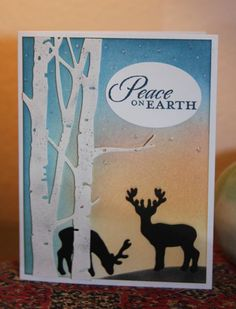 deer silhouette, winter, CAKath at Splitcoast