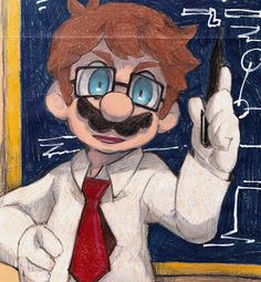Dr. Mario (in university lecture) by Uroad7