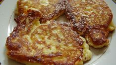 Quark apple pancakes - Cottage cheese and apple pancakes – Recipe Apple Pancake Recipe, Low Carb Pancakes, French Food, Finger Foods, Easy Meals, Snacks, Food And Drink, Baking, Breakfast
