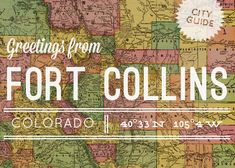 Do come and visit!!!  Design Sponge has shared many of our favorite places. :) Fort Collins, Colorado City Guide http://www.akinz.com/