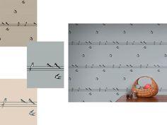 On A Wire Wallpaper, Earth Inke Wallcoverings