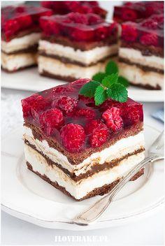 Ciasto Balladyna - I Love Bake Sweet Recipes, Cake Recipes, Dessert Recipes, No Cook Desserts, Delicious Desserts, Chocolate Fudge Cake, Just Cakes, Sweet Cakes, No Bake Cake