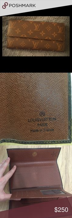 Louis Vuitton wallet This is a classic Louis Voitton wallet. 7.5 inches long and 4 inches wide. It's in unused condition. It was a gift, and I'm only getting rid of it because I need the money for school! It's in great condition. Please let me know if you have any questions! :) Louis Vuitton Bags Wallets