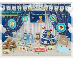 Prince Birthday Theme, Boy First Birthday, First Birthday Parties, Birthday Party Themes, First Birthdays, The Little Prince Theme, Little Prince Party, Christening Decorations, Storybook Baby Shower