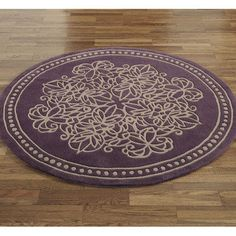 Vintage Lace Round Rug..this would look great in my bathroom!