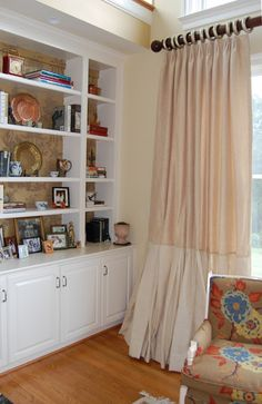 Muraca Design Notebook: Burlap Curtain Panels - finished!
