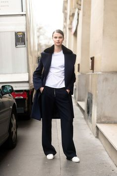 so chic. #VasilisaPavlova #offduty in Paris.