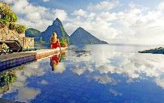 Jade Mountain Resort, St. Lucia.  This hotel has magnificant views of the Pitons.  Book with jane@freespiritholiday.co.uk