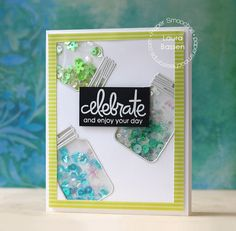 Paper Smooches Mason Jar shaker card by Laura Bassen (with video tutorial)