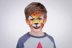 3. Konturen des Tigers zeichnen