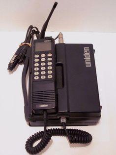 Uniden CP 2000 Car Phone Cell Vintage Mobile Brick For Parts Black