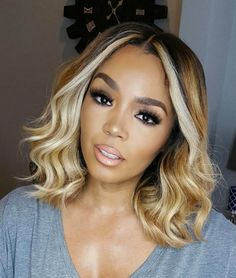 Wavy Wigs For African American Women The Same As The Hairstyle In The Picture - Wigs For Black Women - Lace Front Wigs, Human Hair Wigs, African American Wigs, Short Wigs, Bob Wigs Wavy Bob Hairstyles, African Hairstyles, Hairstyles 2016, Wedding Hairstyles, Bob Haircuts, Braided Hairstyles, Trendy Hairstyles, Shaved Hairstyles, Summer Hairstyles