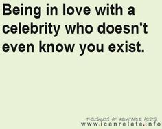 Except he knows I exist!