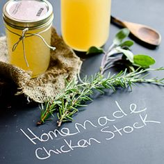 Homemade Chicken Stock HealthyAperture.com