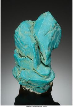 Turquoise ps. after Apatite - Blue Gem Wonder Claim, Mina, Pilot Mountains Dist., Mineral Co., Nevada, USA Size: 3.8 x 4.4 x 2.5 cm