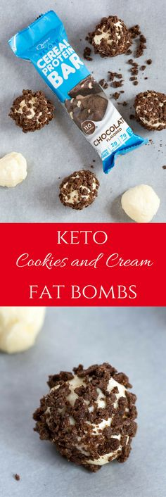 AD: Keto Cookies and Cream Fat Bombs are heaven in your mouth. No cooking or churning required! @QuestNutrition @7Eleven #OnAQuest