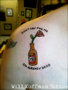 Will_koffman_tattoo_kevin_nsu_simpsons_barney_duff_beer_rose_dont_cry_for_me_im_already_dead_net.jpg 525×700 pixels