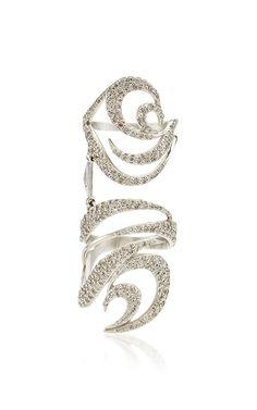 Medium Deca Nueva Ring by Deborah Pagani for Preorder on Moda Operandi