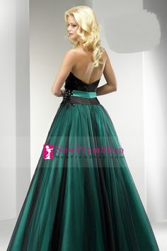 Bicolor A Line Floor Length Tulle Quinceanera Dress With Beading Work