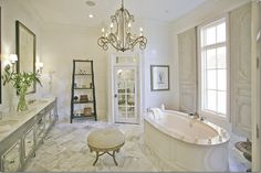 Amy Howard's master bathroom in her personal home. (Amy is a interior designer, wholesale furniture manufacturer from Memphis, TN.)