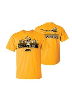 Wichita State (WSU) Shockers T-Shirt - Missouri Valley Conference Tournament Champions and Undefeated Gold WSU Bracket Short Sleeve Tee http://www.rallyhouse.com/shop/wichita-state-shockers-8090214 $21.99