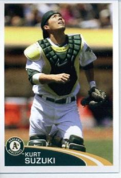 2012 Topps Baseball MLB Sticker #104 Kurt Suzuki Oakland Athletics by Topps Stickers. $1.95. Single 2012 Topps MLB Sticker; Look for thousands of other great sportscards of your favorite player or team; Sticker is in MINT condition and shipped in a protective topload holder. MLB Baseball Collectible Sticker From Topps